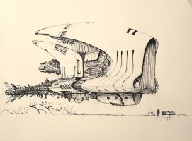 Explorer Ship Sketch by yigitkoroglu