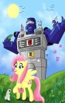 MLP/TF: BeachComber and Fluttershy by KarToon12