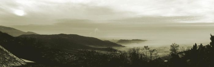 A trip over the fog - panorama by pgibe