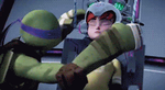 (GIF) Showdown: Donnie + April  - You're My Hero by LumosLightning