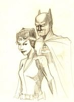 Batman and Catwoman by CoreyBass