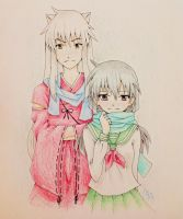 Inuyasha and Kagome by pgrasshopper7