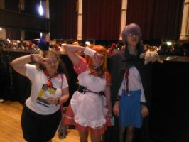 Me with Asahina Mikuru and Nagato Yuki cosplayers by OtakuRhi