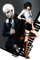 Lady n Vergil(DMC3)_A by Kunoichi1111
