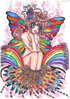 ++RAINBOWBUTTERFLY++ by ladybluematrix