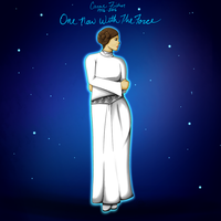 One With The Force- Carrie Fisher Tribute by UxieSweetie