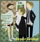 Supernatural + Grimm - Nick never wear suits by Bisho-s