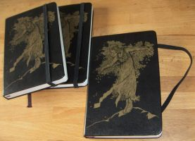Moleskine notebooks by a-mar-illo