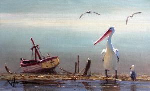 Coastal Oil Painting- 'Incoming' by jo-hagan