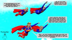 Supergirl Quad in Flight by TrekkieGal