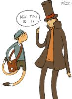 Professor Layton- What time is it? by Chocolate--Ice