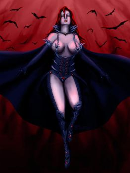 Queen Dracula by whiteguardian