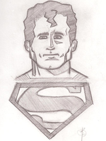 Superman Sketch by Gligleglog
