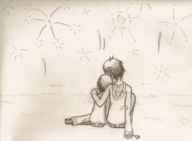 Under the Fireworks by aipuri
