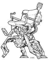 steampunk Chair Inked Final by Legato895
