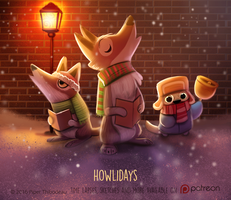 Daily Paint 1476. Howlidays by Cryptid-Creations