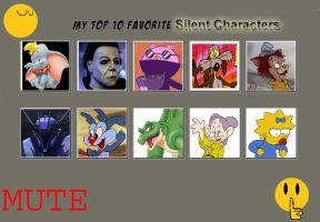 My Top 10 Favorite Silent Characters by SithVampireMaster27