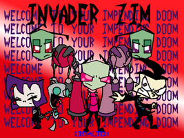 The Invader Zim Crew by DibFan4LifeX3
