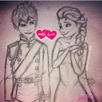 King Jack and Queen Elsa by JackXElsa12