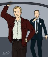 Captain America and Agent Coulson by cyen