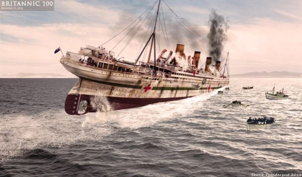 Death of the Britannic by lusitania25