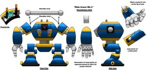 Ride Armor MK1 Model Sheet by MechaKraken