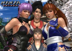 Ninja Gaiden Girls 3D by EnlightendShadow