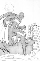 Batman and Nightwing by jsalwen