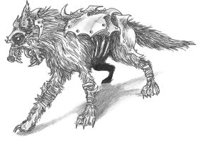 Armored Zombie Wolf by zombieface420