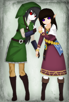 EchoxKiki Cosplaying as Zelda and Link by TFAfangirl14
