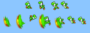 Yoshi's kick sprites by Legend-tony980