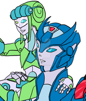 Chromia and Larkspur [preview] by KyaValentine