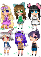 Adoptables batch 2 (CLOSED) by Sweetie-Haruka15