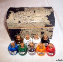 Game of Thrones collection of vials - wildfire etc by UrdHandicrafts
