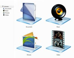 Windows 7 + 8 Library Icons by barryfell
