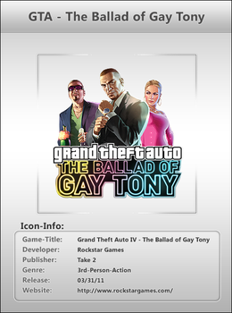GTA Ballad of Gay Tony  - Icon by Crussong