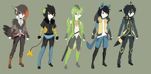 Gijinka Adopts Small Set 1 by Gijidopts