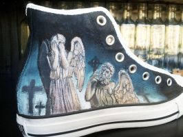 Dr Who Shoes - Weeping Angels by GamerGirl84244