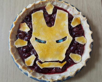 Iron Man Pie for Pi Day by zaythar