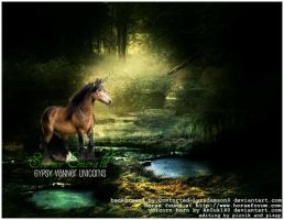 Stormy Emerald Gypsy Vanner Unicorns by Animal-Talents