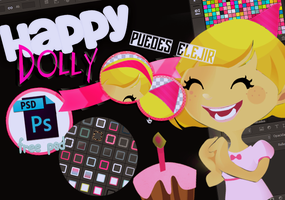 Doll PSD - Happy Dolly - Free by iSparkTheLight