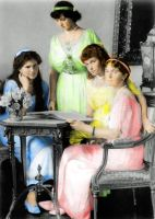 Grand Duchesses Posing 1914 by Sonja-from-Finland