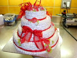 Quinceanera cake 1 by buttercreamfantasies