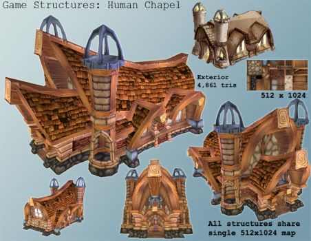 Game Model - Human Chapel ext. by gronch