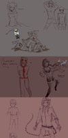 Sketch Dump I by Ebulliently-Askew