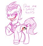 Joker Pony Sketch by icelion87