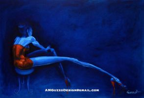 Blue in Red by AMGuzzo