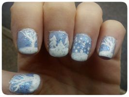 Winter Nail Art by EnelyaSaralonde