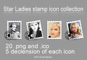 Ladies stamp icons collection by karnakhan