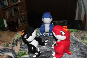 T-Rex Plushies by lokiie1984